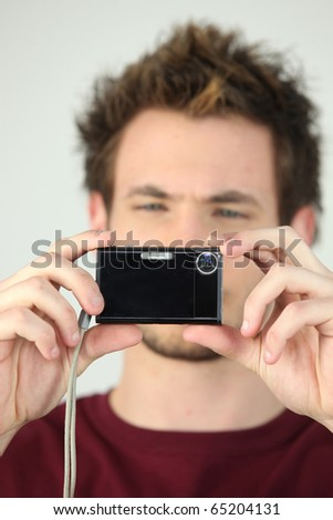 Man photographing - stock photo