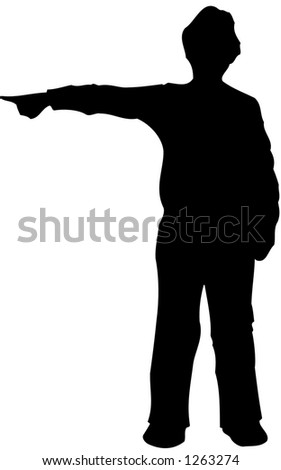 Man pointing silhouette