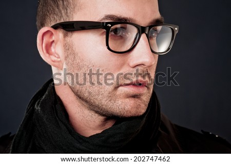 man portrait - stock photo
