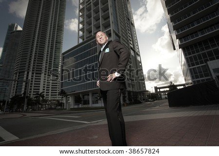 Man posing with his hands on his hips