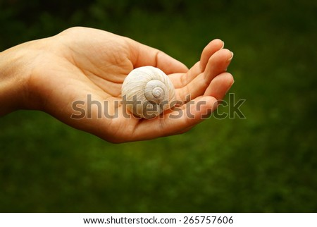 Man, protection of nature, life preservation - stock photo
