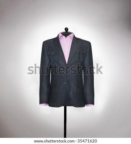 man's elegants  suits - stock photo