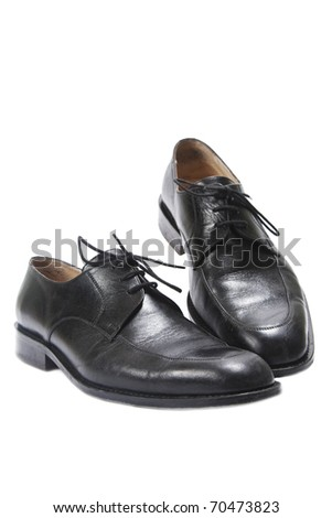 Man's fashion leather shoes - stock photo
