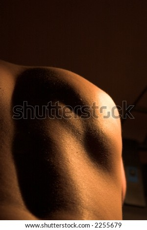 man's nude body - stock photo