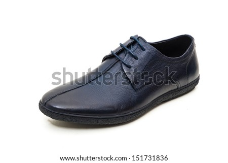 Man's shoes isolated on white background - stock photo