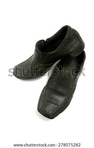 Man's shoes on white background - stock photo