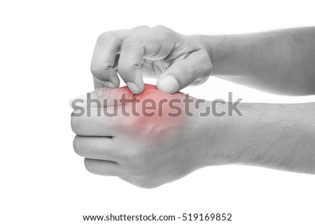 Man scratch the itch with hand, Arm, Itching, Concept with Healthcare And Medicine.