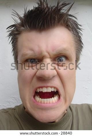 Man screaming - stock photo