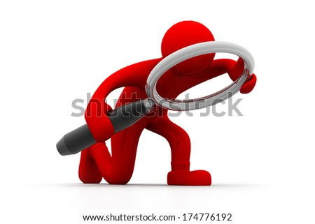 Man searching - stock photo