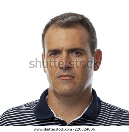 man serious  - stock photo