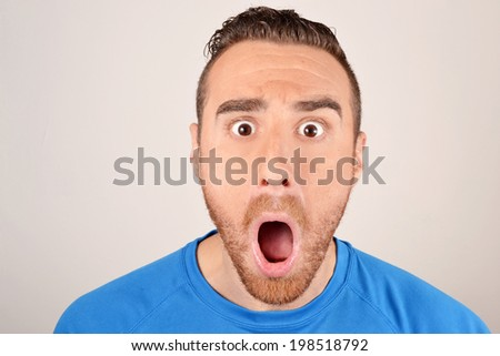 man shouting angry - stock photo