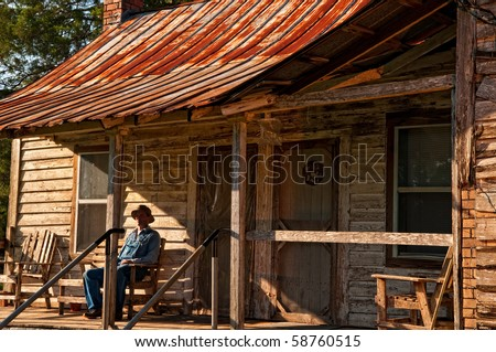 Log Cabin Porch Stock Images Royalty Free Images