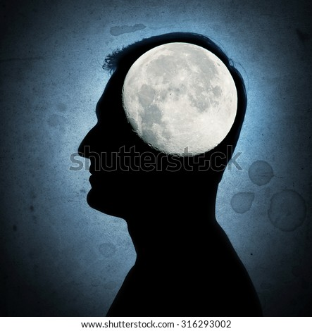 man sleepwalker concept. Elements of this image furnished by NASA. - stock photo
