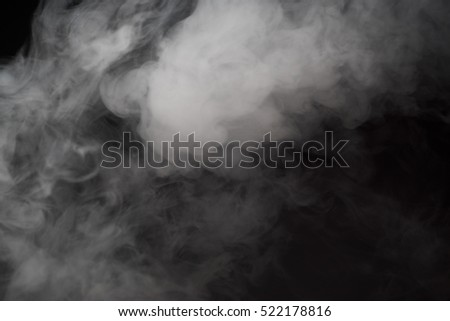 Man smokes electronic cigarette. Smoking e-cigarette. Close up shot