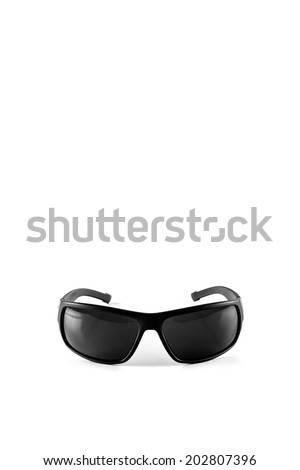 man sunglasses is isolated on white background - stock photo
