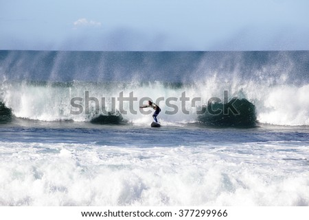 Man surfing in Cronulla