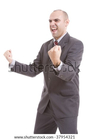 man symbolizing victory - stock photo