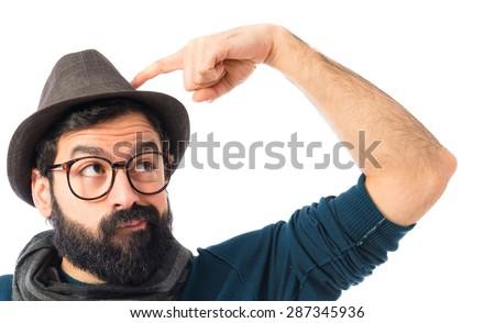 Man thinking - stock photo