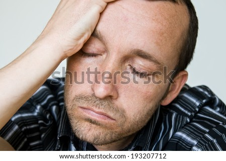 man tired - stock photo