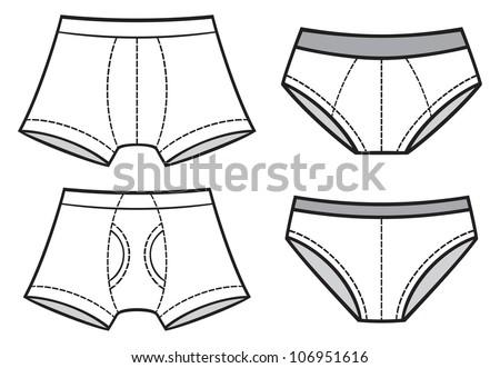 man underwear (underwear pants, men's boxer shorts, man briefs, underwear set) - stock photo