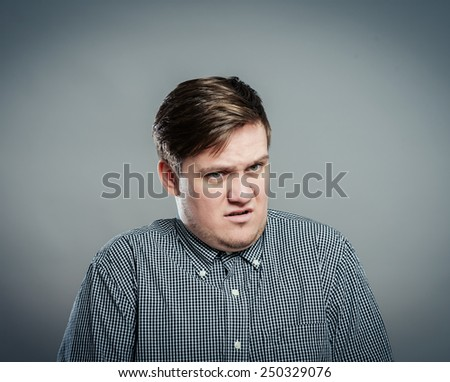 man unhappy desperate disappointed disgust - stock photo
