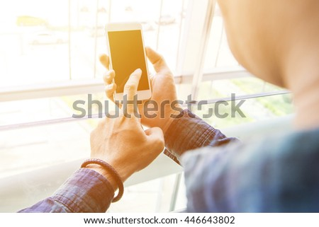 man use of smart phone