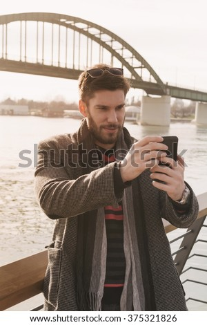 Man using the phone