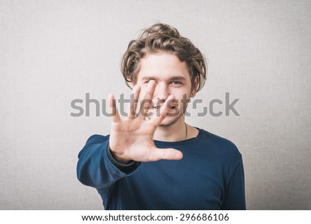 man waving