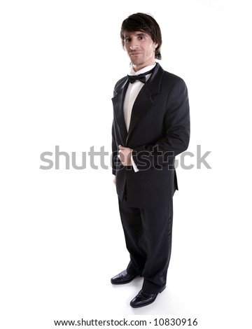 man wearing black tuxedo, dress for special occasion