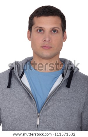 Man wearing hooded top - stock photo