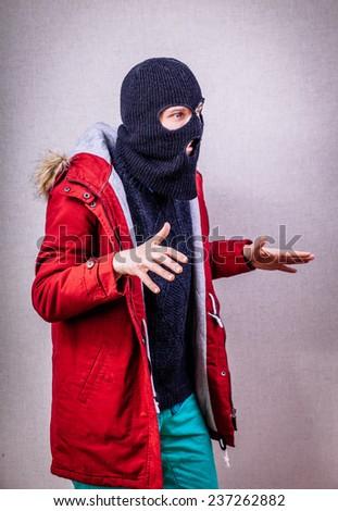 Man Wearing Mask  - stock photo