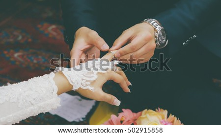 Man Wears Wedding Ring On Hand Stock Photo 502915858 Shutterstock
