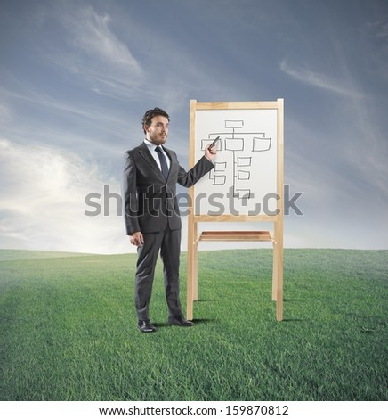 Man who does training on business strategy
