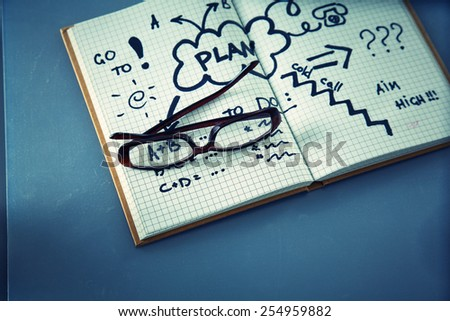 Man with a Note  - stock photo