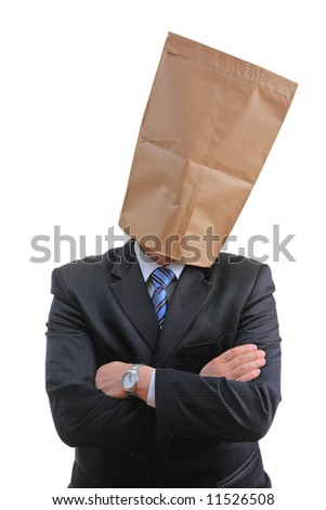 Man with a paper bag