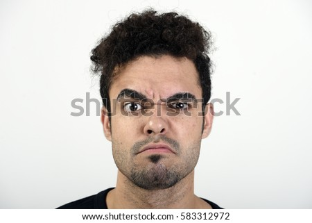 Man with an angry face