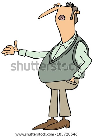 Man with an explanation - stock photo