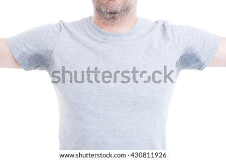 Sweating stock photos royalty free images vectors for How to remove sweat stains from black shirts