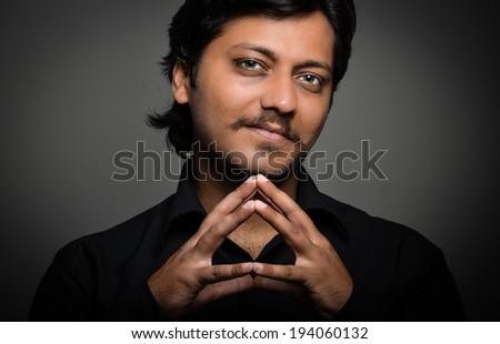 MAn with expressions - stock photo