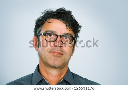 man with glasses - stock photo
