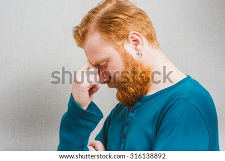 man with headache