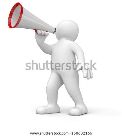 Puppet Megaphone Stock Illustration 55581304 - Shutterstock