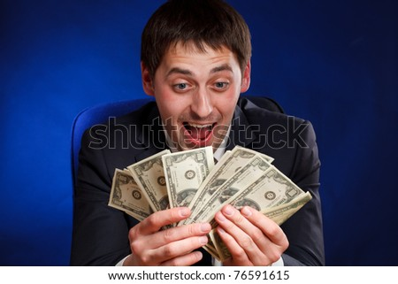 Man with money. - stock photo
