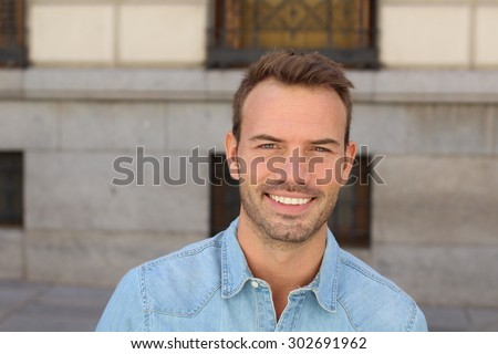 Man with the PERFECT SMILE - stock photo