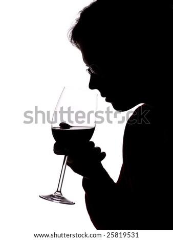 man with wine - stock photo