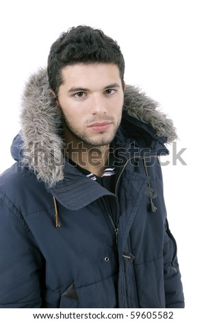 man with winter clothing