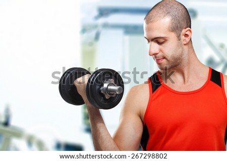 Man working out - stock photo