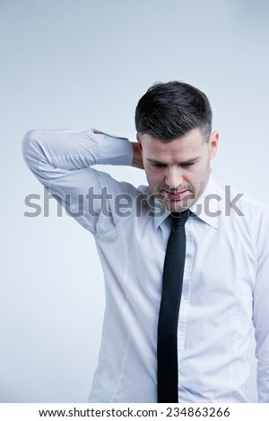 man worried about some problems of his own - stock photo
