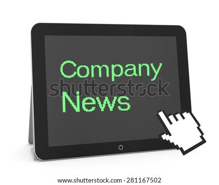 man write company news - stock photo