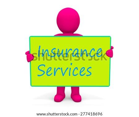 man write insurance services - stock photo